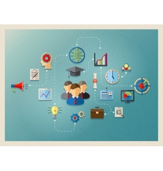 education and management in web vector image vector image