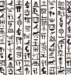 Egyptian hieroglyphics seamless background vector image vector image