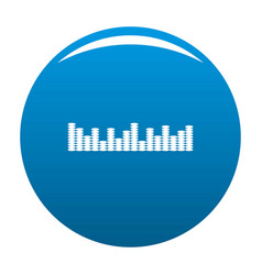 equalizer music icon blue vector image vector image