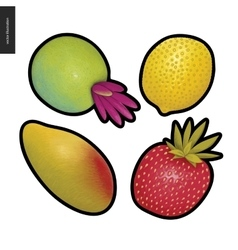 Fruit stickers vector image vector image