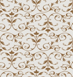 gold floral pattern vector image vector image