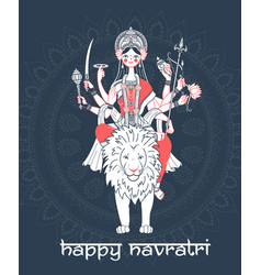 Greeting card navratri vector