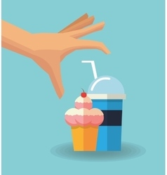 Ice cream and milkshake design vector