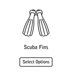 Icon fins scuba diving equipment vector