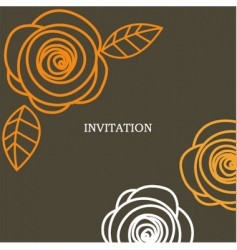 invitation background vector image vector image