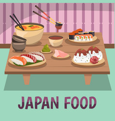Japan food composition bckground poster vector