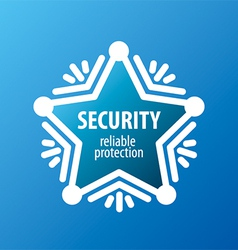 Logo of protection in the form of stars vector