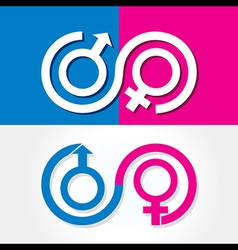 Male and female symbol stock vector image