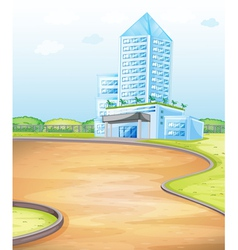 Modern apartment building vector