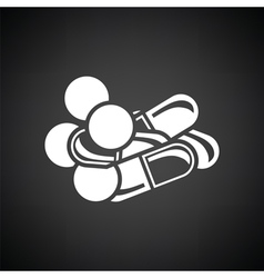 Pill and tabs icon vector