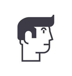 profile man line icon sign vector image