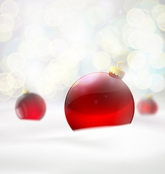 red balls lying in the snow vector image vector image