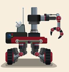 Robot digital design vector image vector image