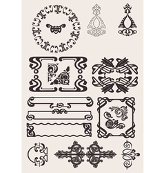 Set Of Art Deco Frames Others In Portfolio vector image