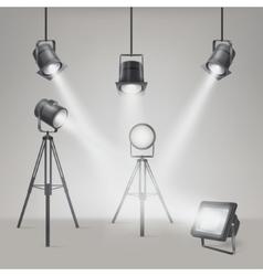 Set of scenic spotlights vector
