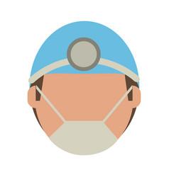 surgeon faceless avatar vector image vector image