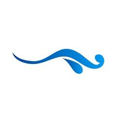 water abstract logo vector image