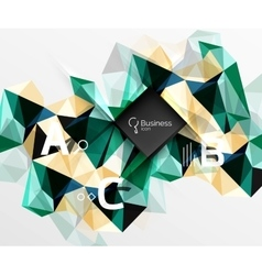 Polygonal triangle abstract background with vector image