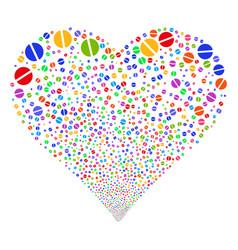 Pharmacy tablet fireworks heart vector