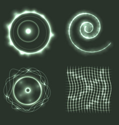 Set of glowing geometrical shapes vector