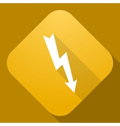 Icon of lightning sign with a long shadow vector