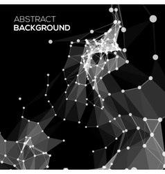 Molecule And Communication Background in black vector image