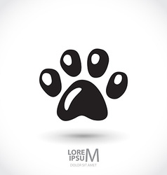 Animal footprint vector