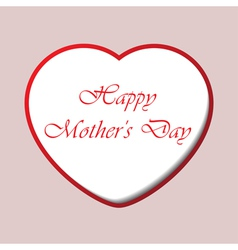 Mothers day card with heart and text vector