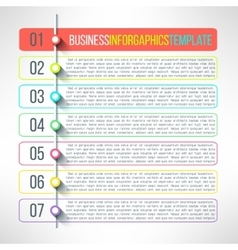 business process steps infographics vector image