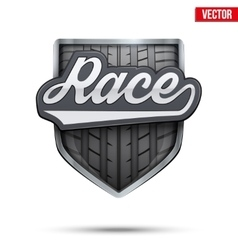 Premium symbol of race label vector