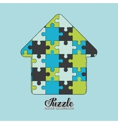 Puzzle pieces and big ideas vector image