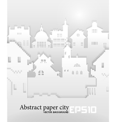 Abstract background with old building 3d paper vector