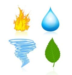 nature elemente vector image