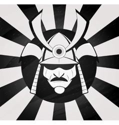 samurai mask vector image