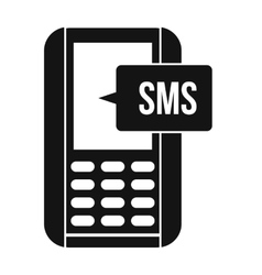 Mobile phone with sms message symbol vector
