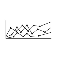 Business charts icon simple style vector
