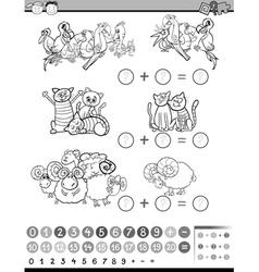 education math activity vector image