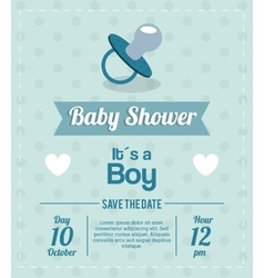 Baby shower design pacifier icon graphic vector