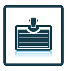Icon of badge with clip vector
