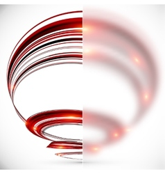 Abstract spiral with blurred glass banner vector image