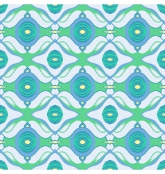 Arabic pattern in blue and green vector image