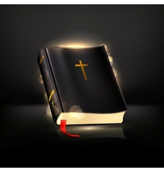 Bible on black vector image vector image