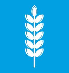 Big grain spike icon white vector