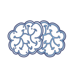 blue brain cartoon vector image
