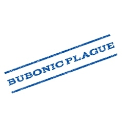 Bubonic plague watermark stamp vector