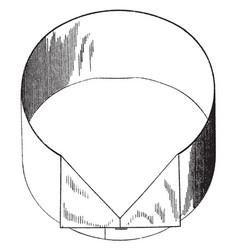 Clothing collar vintage engraving vector