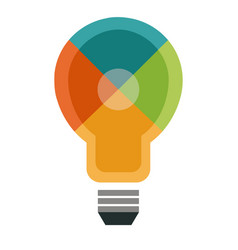 Color light bulb puzzle idea business solution vector