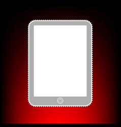 computer tablet sign postage stamp or old photo vector image