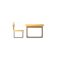 Desk with chair isolated icon in flat style vector