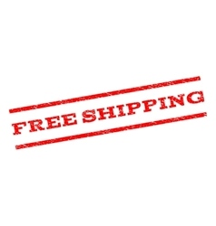 Free shipping watermark stamp vector